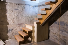 Stairs to wine cellar